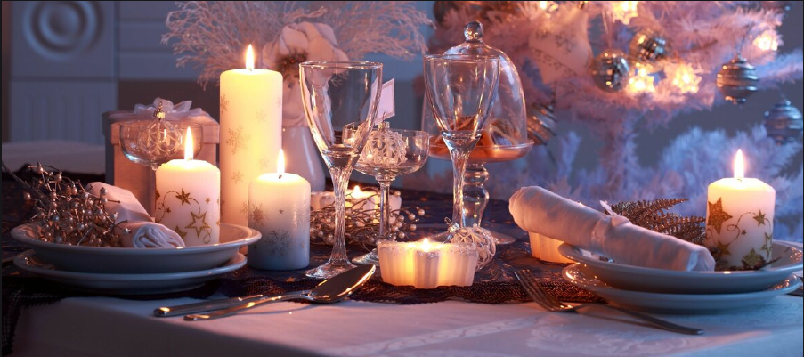 استفاده از شمع در چیدمان میز غذا خوری