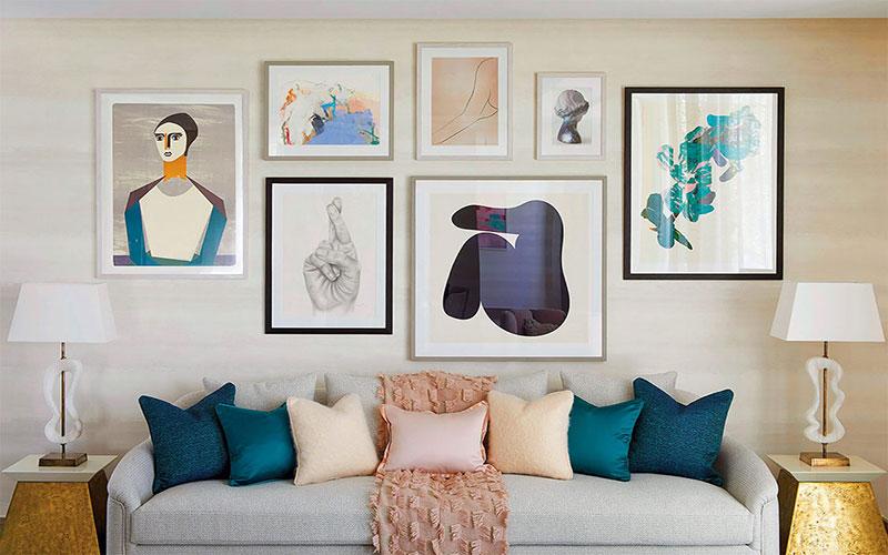 کاربرد تابلوهای ارزان در چیدمان منزل با منابع محدود