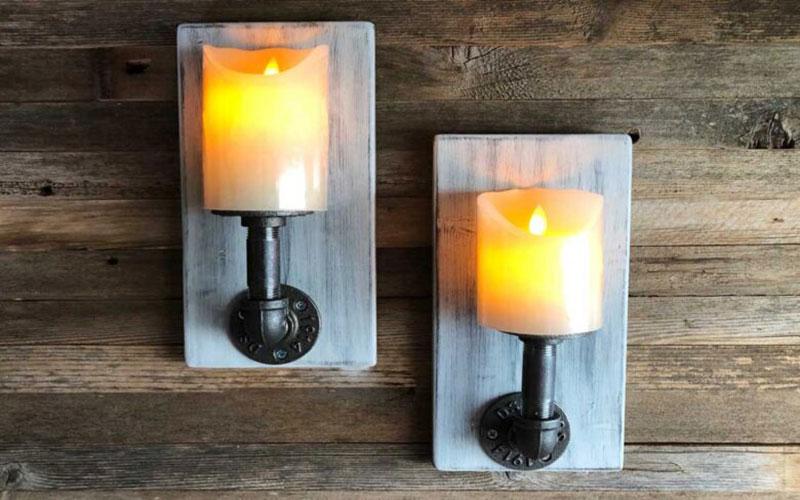 خرید شمع و جاشمعی دیوارکوب